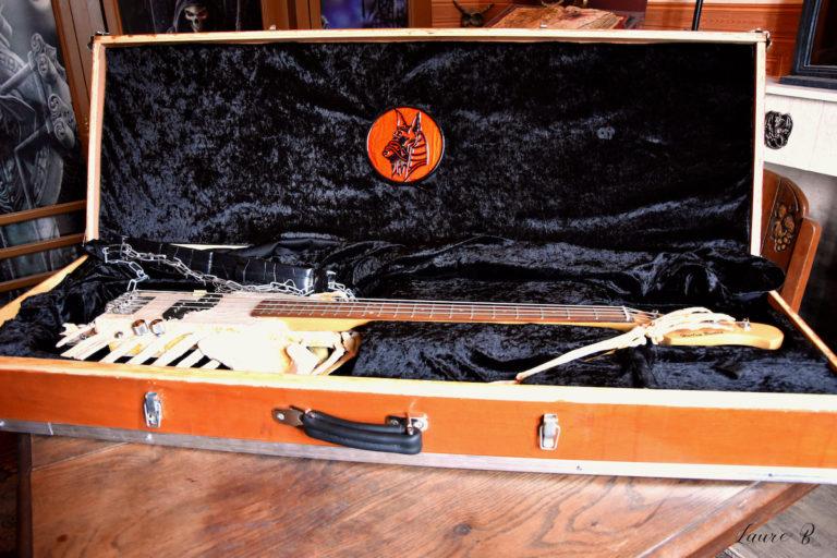 guitare squelette domaine Anubis