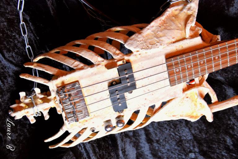 guitare squelette domaine Anubis horizontale