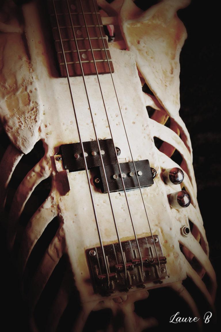 guitare squelette domaine Anubis cordes