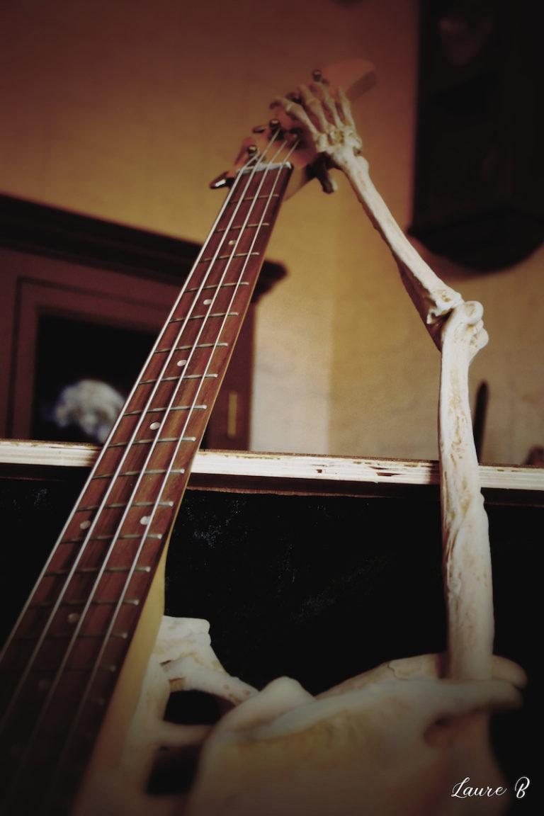 guitare squelette domaine Anubis manche