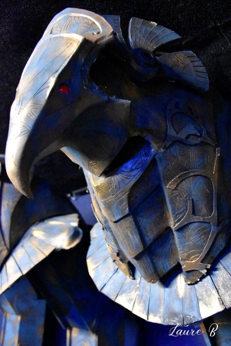 domaine Anubis tête bronze aigle bleue
