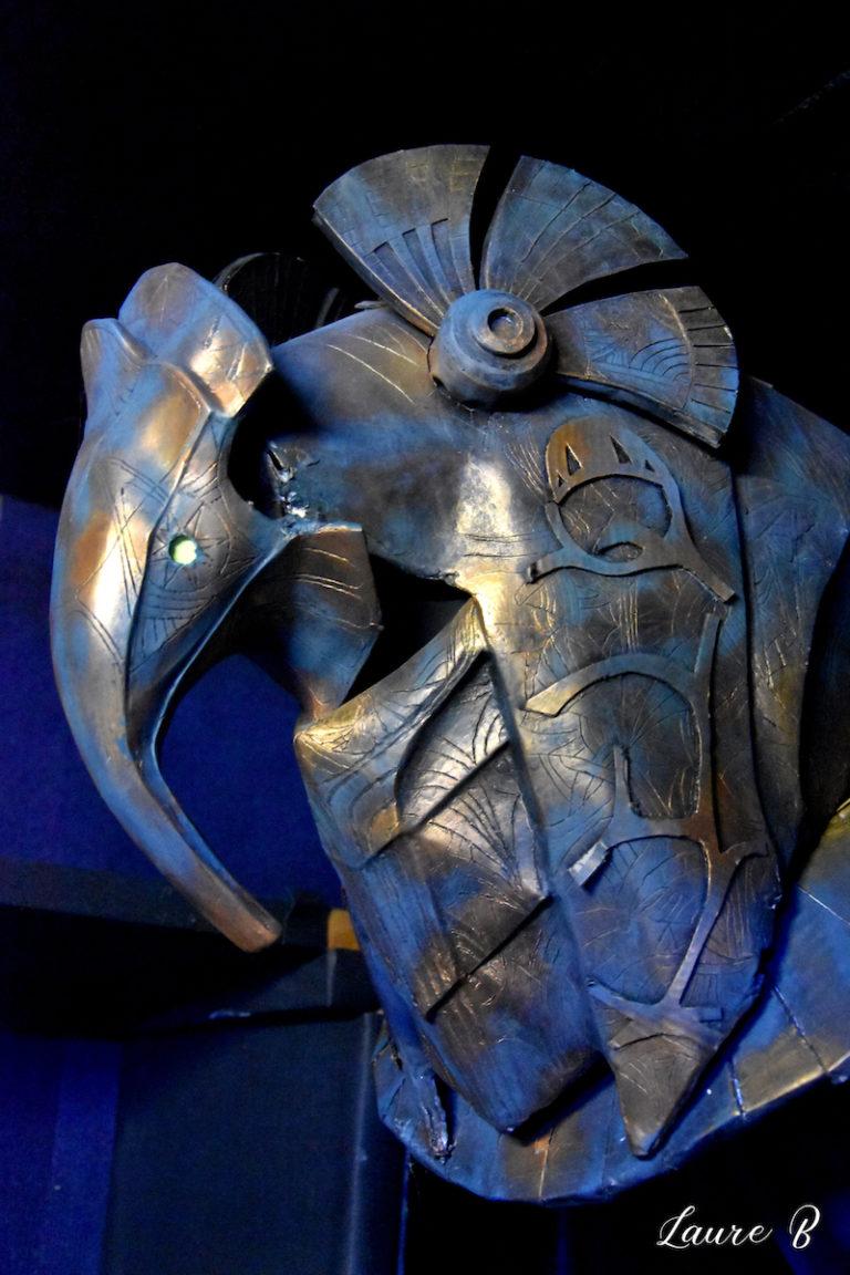 domaine Anubis tête bronze bleue