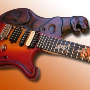 guitare sculptée